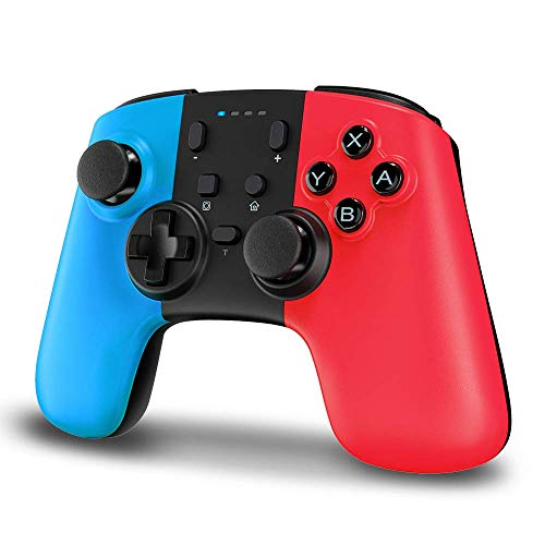 Wireless Controller for Nintendo Switch, STOGA Wireless Switch Pro Controller for Nintendo Switch Lite, Switch Controller Wireless with Gyro Axis, Turbo, and Dual Vibration (Red&Blue)