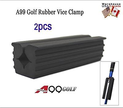 2pcs A99 Golf Rubber Vice Clamp black