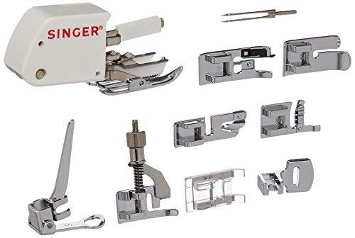 Kit de accesorios para Singer, pies prensatelas aguja doble
