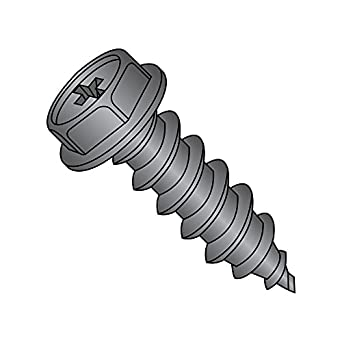 Steel Sheet Metal Screw #4-24 Thread Size Pan Head Phillips Drive Pack of 10000 3//4 Length Type AB Black Oxide Finish