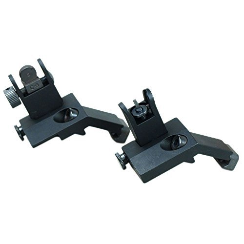 Front and Rear Flip Up 45 Degree Offset Rapid Transition Backup Iron Sight by Green Blob Outdoors (Image #1)