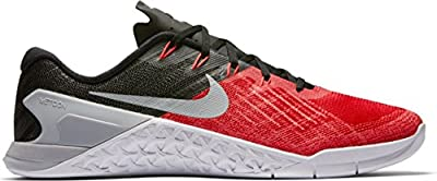 Nike Mens Metcon 3 Training Shoes Track University Red/Wolf Grey/Black 852928-600 Size 9