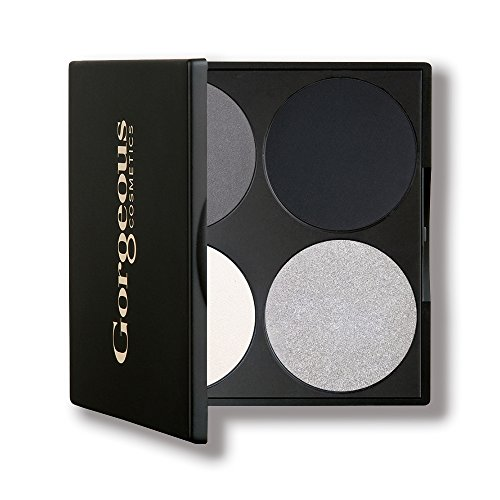 Gorgeous Cosmetics Hollywood Smokey Eyes Palette, 4 shades, Compact with Mirror -  7373324