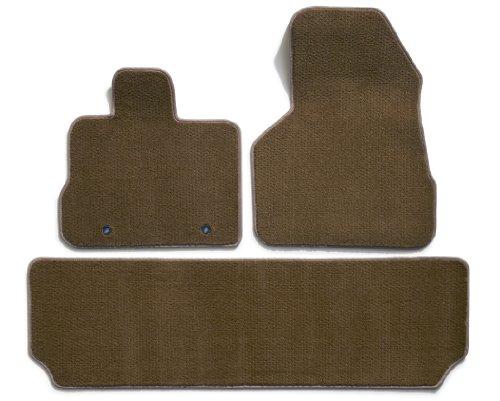 Rear Carpet Set (Premier Custom Fit 3-piece Set with 2 Front and 1 Rear Carpet Floor Mats for Nissan Murano (Premium Nylon, Beige))