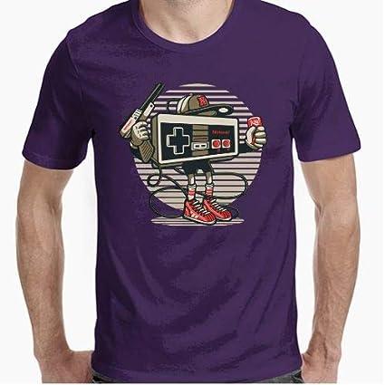 Positivos Camisetas Retro Nintendo Gansta - S