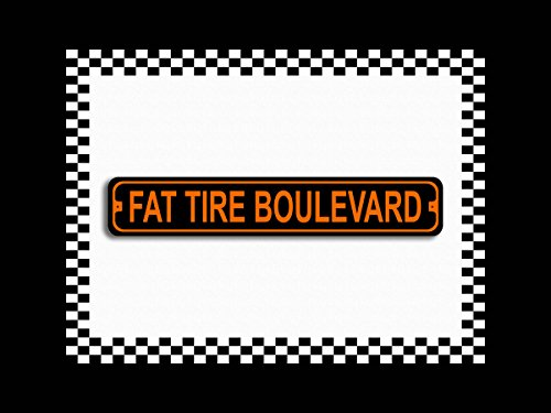 (Fat Tire Blvd Novelty Harley Metal Street Sign 3x18)