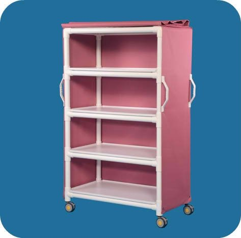 MRI Compatible 4 Shelf Cart with 36 x 20 Shelves - MRILC364SM - Silverado Mesh Cover ()
