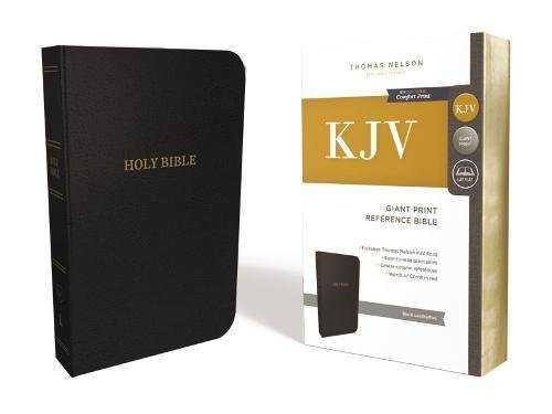 KJV, Deluxe Reference Bible, Giant Print, Imitation Leather, Black, Red Letter Edition, Comfort Print