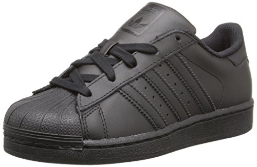 adidas Originals Superstar C Basketball Shoe (Little Kid),Black/Black/Black,2 M US Little Kid