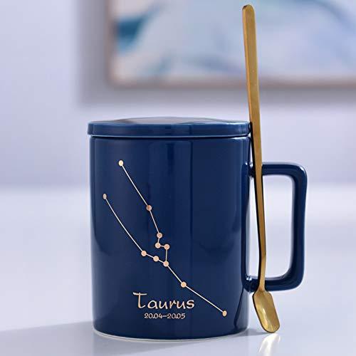 baporee Taza De Cerámica Cuchara con Tapa Signo del Zodiaco Taza ...