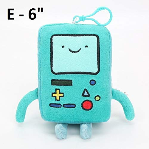 PAPRING Finn Keychain 4 - 7 inch Jake BMO Peppermint Butler Ice King Lumpy Space Princess Adventure Time Small Plush Keyring Stuffed Toy Christmas Halloween Birthday Gifts New Collectible for Kids (E) ()