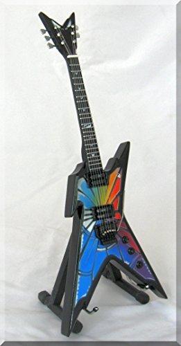 DIMEBAG DARRELL Miniature Guitar Razorback Stained Glass Pantera ()