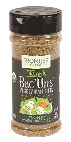 Soy Bacon - Frontier Vegetarian Bits Bac'uns Certified Organic, 2.47-Ounce Bottle