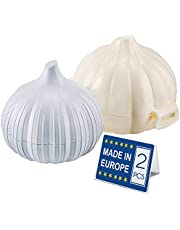 Garlic Saver Box and Masher, BPA free Garlic Mincer and Crusher
