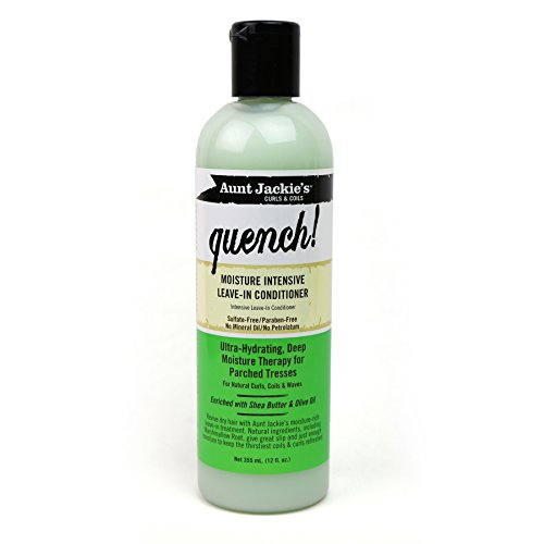 Aunt Jackie's Quench, Moisture Intensive Leave-in Conditioner, Ultra-Hydrating, Deep Moisture Therapy for Parched Hair, 12 Ounce Bottle (The Best Hair Care Products For Natural Hair)