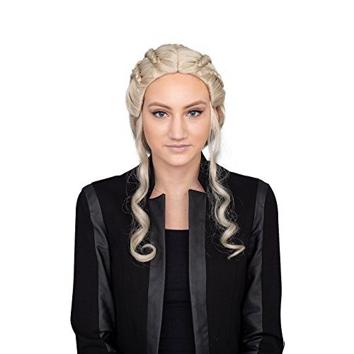 Queen Dragon Costume Accessory Blonde Deluxe Wig