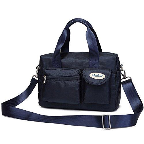Paquete de la madre de múltiples funciones, maternal y bolsas del niño, bolso de las mujeres embarazadas, salen el bolso, bolso de la momia, bolso, bolso de hombro ( Color : Rosa Roja ) Azul zafiro
