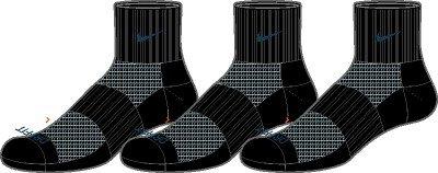 Nike 3PPK DRI-FIT HALF-CUSHION QUARTER (XL) (ADULT UNISEX)