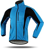 Winter Running Cycling Jacket for Men Women Cold Weather Thermal Fleece Softshell Jacket Waterproof Reflective