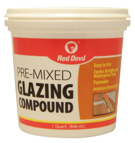 Putty Glazing (Red Devil 0664 1-Quart Pre-Mixed Glazing Compound, White)