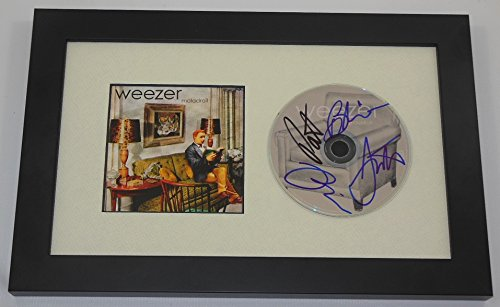 Weezer Maladroit Authentic Group Band Signed Autographed Music Cd Cover Compact Disc Framed Display Loa (Weezer Signed)