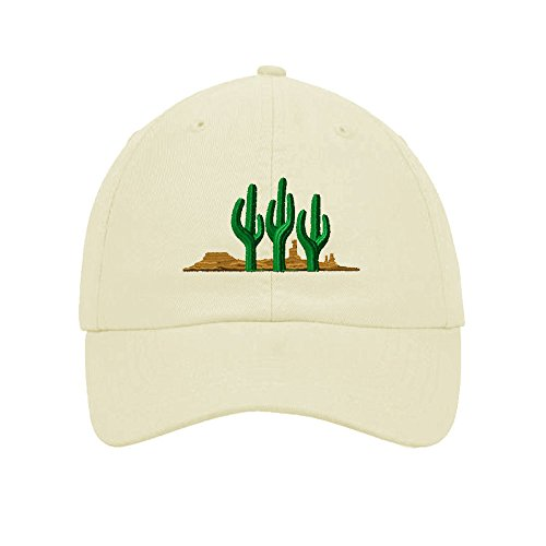 West Cactus Embroidered Soft Unstructured Hat Baseball Cap - T-shirt Cap Embroidered