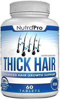 Thick Hair Growth Vitamins – Anti Hair Loss DHT Blocker Stimulates Fast Hair Growth for Weak, Thinning Hair – Biotin Hair Supplement with Keratin Helps Men & Women Grow Perfect Hair, Made in The U.S. (Growth Hair Fast Vitamins)