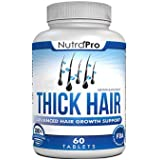 Thick Hair Growth Vitamins – Anti Hair Loss DHT Blocker Stimulates Fast Hair Growth for Weak, Thinning Hair – Biotin Hair Supplement with Keratin Helps Men & Women Grow Perfect Hair, Made in The U.S.