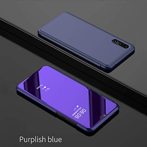 Clear View Smart Mirror Phone Case for Samsung Galaxy S9 S8 S7 S6 Edge Plus for Note 8 5 for A3 A5 A7 A8 2017 2018 Case (Purple, for Samsung J7 2017)