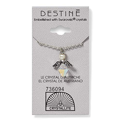 Crystallite Destine Austrian Crystal AB Angel Necklace