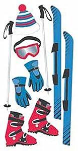 SandyLion Essentials 3D Motiv-Sticker Skifahren, (Skiing), Motive: Ski,...