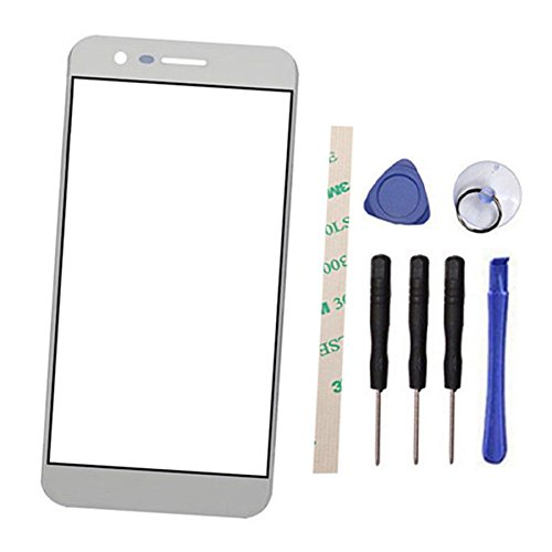 Outer Screen Front Glass Lens Replacement for LG M210 MS210 Aristo LV3 K8 2017 (Not LCD screen and Not digitizer) (silver)
