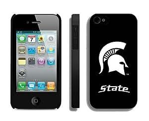 linJUN FENGBlack Iphone 4 4s Case Mate Ncaa Team Logo Designer Phone Cover for Guys