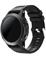 SUPORE Garmin Fenix 5 Sportuhr Armband - Quick Fit Weiches Silikon Sportarmband Uhr Band Strap Ersatzarmband Uhrenarmband Garmin Fenix 5 Smartwatch GPS-Multisportuhr