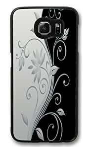 Beautiful vector flowers PC Case Cover for Samsung S6 and Samsung Galaxy S6 Black