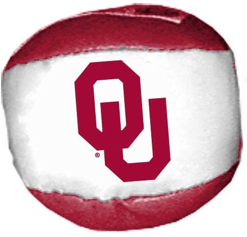 Game Day Outfitters 1937115 University of Oklahoma - Ball Hackysack 24 DP - Case of 144 by Game Day Outfitters