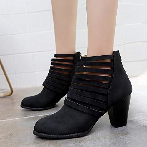 Zipper Short Shoes Shoes HOMEBABY Rome Toe Ankle Single Black Boots Women Autumn Round Boots wxqXAnU