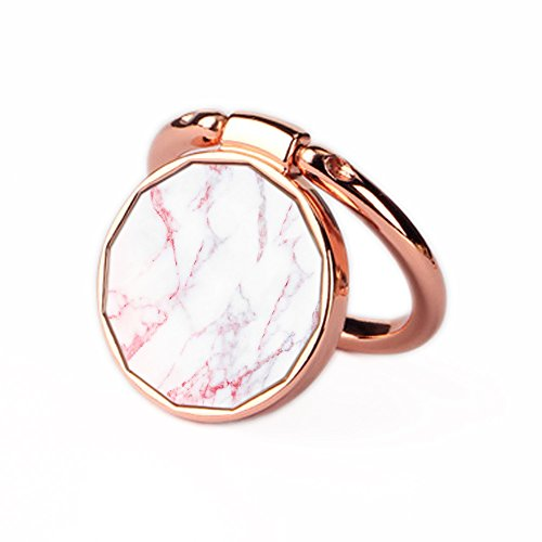 Price comparison product image Phone Ring Holder Stand Oddss Uiversal Thin Finger Ring Grip 360° 180°Flip Ring Stand Grip Mount For Iphone X 8 7/7 Plus,Samsung Galaxy S8/S7,Ipad -Fit Magnetic Car Mount (Rose Gold-Marble)
