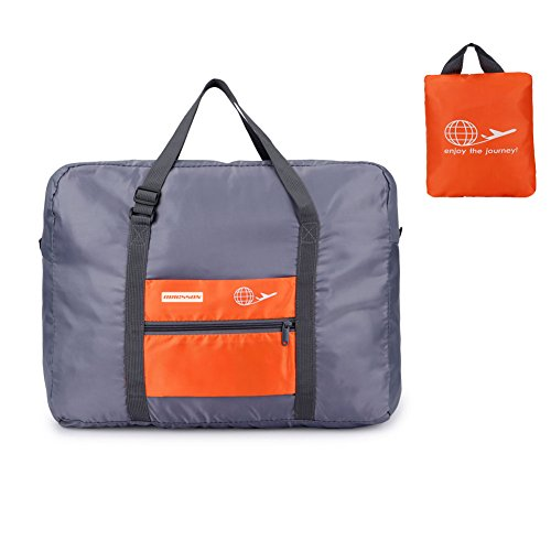 ORICSSON 32L Carry On Foldable Extra Large Extra Strong Storage Bag Large Duffel Sports Gym Bag(Orange) - Rolling Shoes Jordan