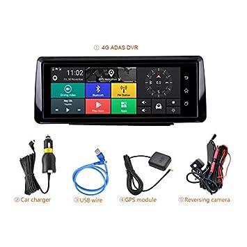 3G TOOGOO Faltbares Auto Dvr 10 Zoll Dash Cam Android 5.1 GPS Navigation Doppel Objektiv Kameras Auto Recorder Voll Hd 1080P Auto Dash Kamera f/ür Chery Tiggo Sonata