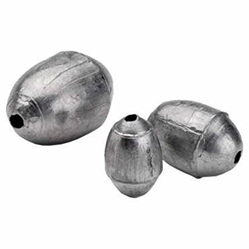 South Bend Egg Sinker Weights, Fishing Weight Egg Shape, 1, 1.5, 2,3, 4, 6, 8 ounce (6 Ounce, 6 Pack) ()
