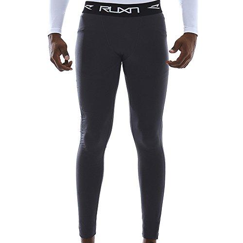 トランペットスティーブンソンその間RUXN Men男性 Quick Dry吸湿速乾Compression Long Pants長い丈コンプレーションパンツBaselayer アンダーレイヤーベースレイヤー Power Stretchy強いストレッチベースレイヤーLeggings レギンス