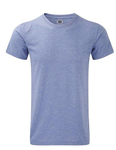 Russell 165m Herren Short Sleeve HD T-Shirt Tee–gelb Marl–X-Large