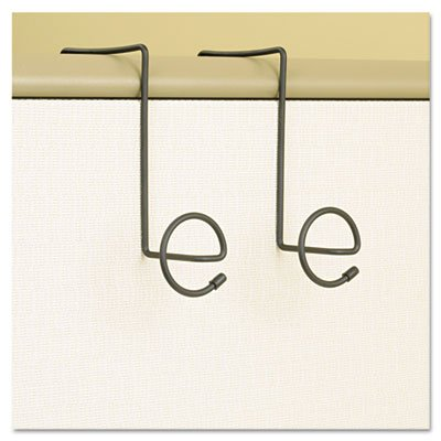 Panelmate Wire Coat Hooks with Plastic Ends, 7 x 7 1/4, Charcoal, 2/Pack, Sold as 1 ()