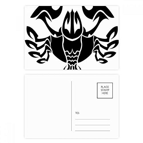 Constellation Cancer Zodiac Symbol Postcard Set Birthday Thanks Card Mailing Side 20pcs by DIYthinker