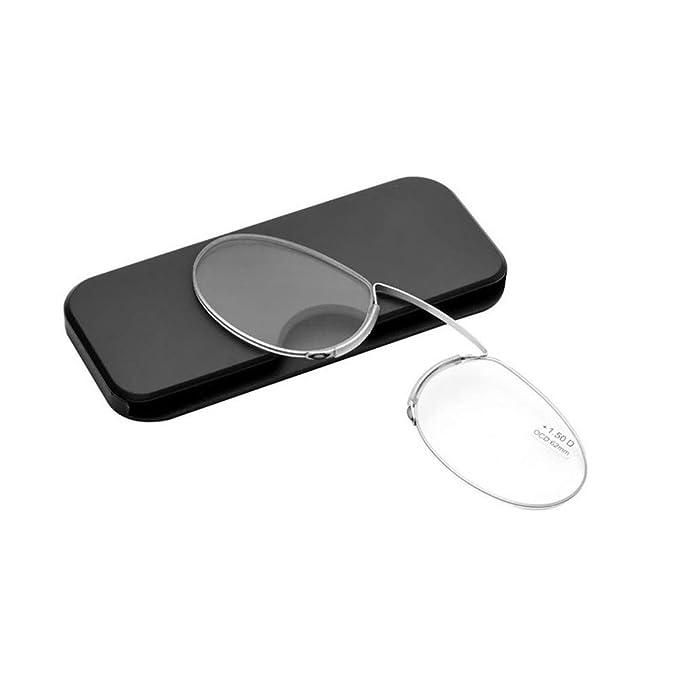 Amazon.com: Gafas sin brazo Pince Nez para dormir con gafas ...