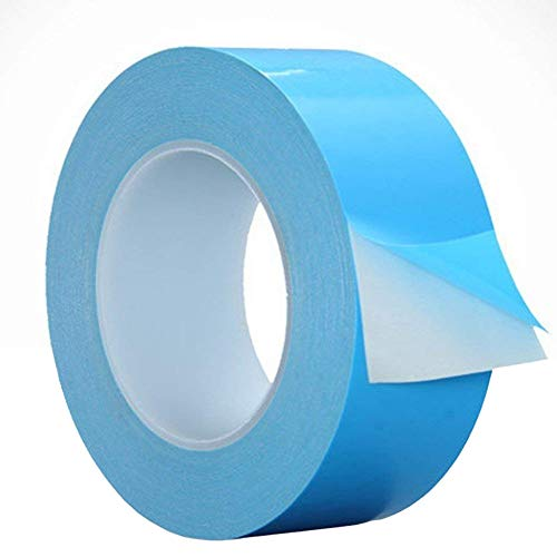 Thermal Adhesive Tape, Double Side Tapes Cooling Pad Apply to LED,CPU,SSD Drives,25m x 20mm x 0.15mm