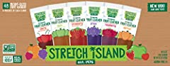 """Stretch Island Fruit Leather Variety Pack contains autumn apple, abundant apricot, orchard cherry, harvest grape, ripened raspberry, and summer strawberry.It is 100 percent natural, the original fruit leather. This comes with Kosher with the """"circle ..."""