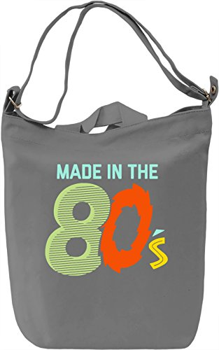 Made In The 80's Borsa Giornaliera Canvas Canvas Day Bag| 100% Premium Cotton Canvas| DTG Printing|