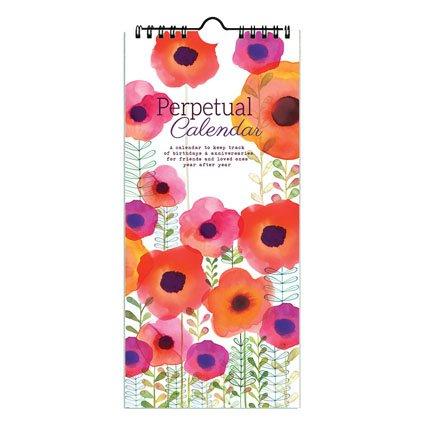 (Gina B Margaret Perpetual Birthday Calendar, Annual Anniversary Reminder Calendar with Flower Artwork by Margaret Berg)